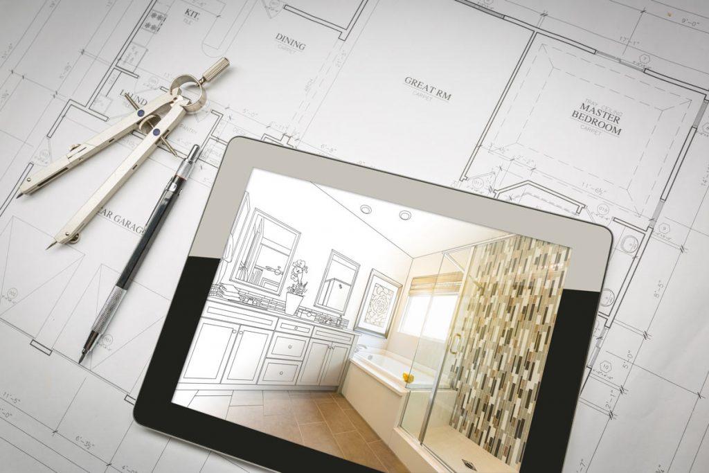 photo of bathroom blueprint - bathroom remodeling services