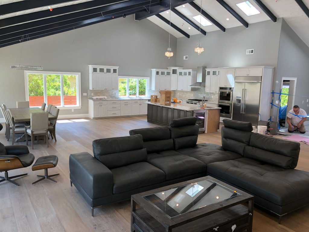 amazing open space home remodeling design by top home builders