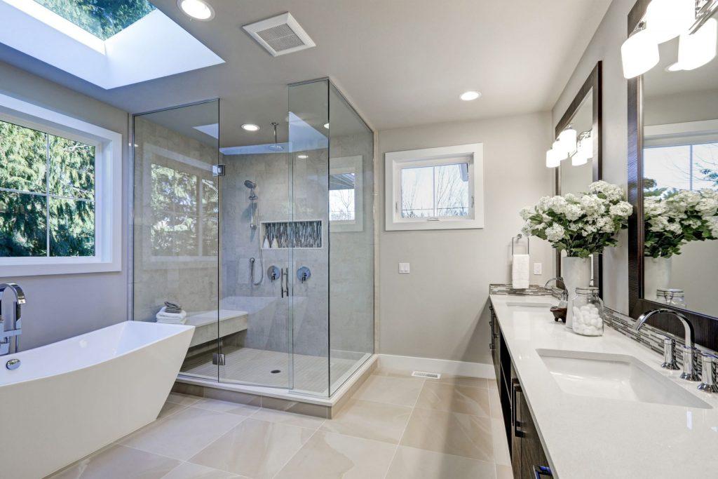 Luxury Bathroom with Walk in Shower - Bathroom Remodeling Danville