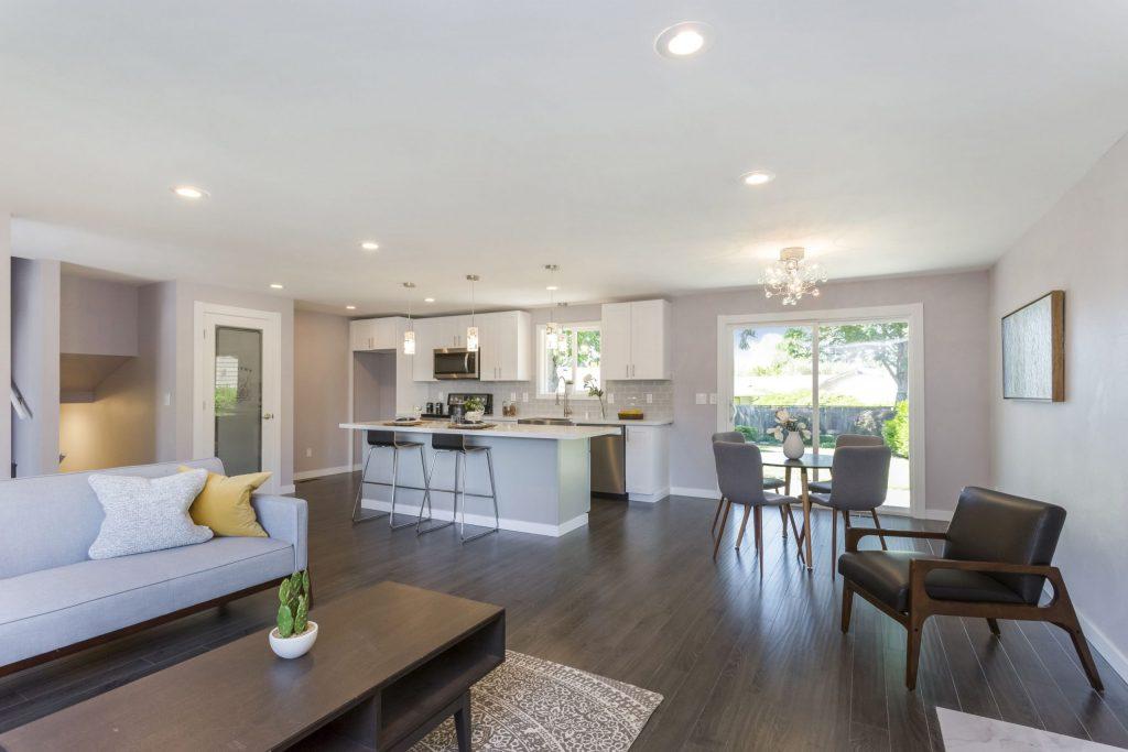 Modern Open Space Walk in Basement - Home Remodeling Company San Jose