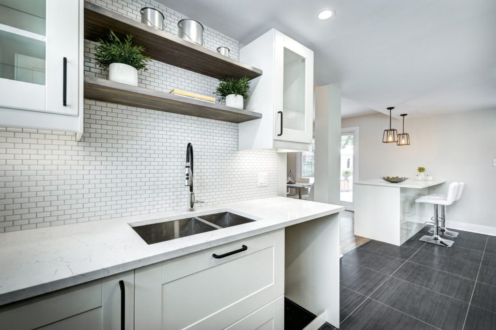 Classic Kitchen with White Brick Splash Wall -Kitchen Remodeling San Jose