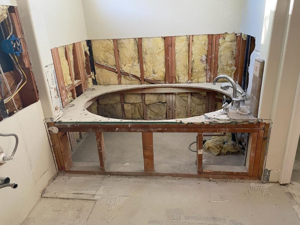 Bathroom Remodeling in Progress by Top Home Builders