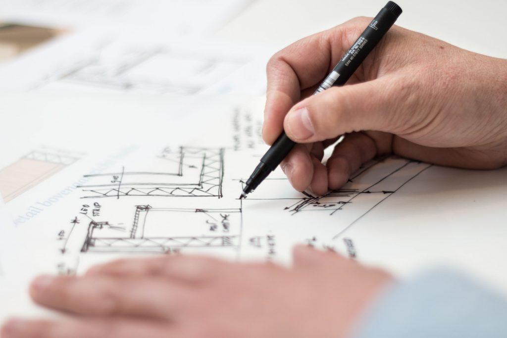Hand drawn house sketch
